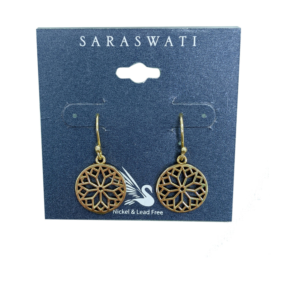 Flower of Life Brass Earring