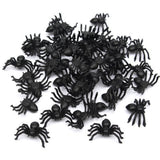 Plastic Black Spider Halloween Decoration - 50pcs 2*1.4cm - NoveltyBox