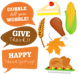 Thanksgiving Photo Booth Props - 34pcs DYI set - NoveltyBox