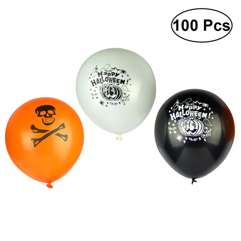 Thickened Latex Themed Halloween Balloons - 100pcs - NoveltyBox