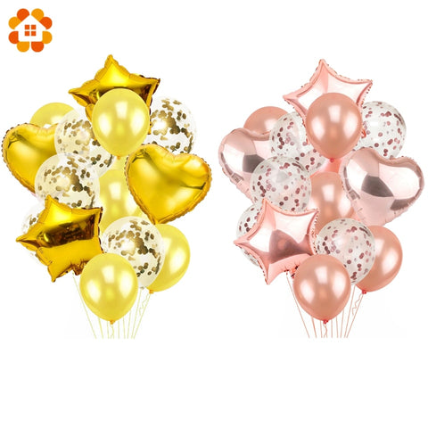 Champagne Gold Air Balloons - 14pcs 12inch&18inch - NoveltyBox