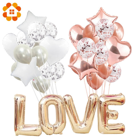 Multi Confetti Air Balloons - Multiple Colours - 14pcs - NoveltyBox