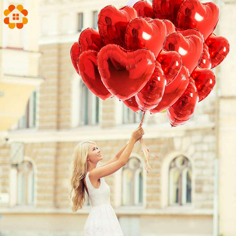 Heart/Star Shaped Balloons - Many Colors - 5 pieces - NoveltyBox