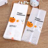 Halloween Frosted Translucent Strip Biscuit Party Gift Bag - 50pcs - NoveltyBox