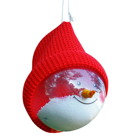 Christmas Tree Transparent Decoration Ball - Snowman