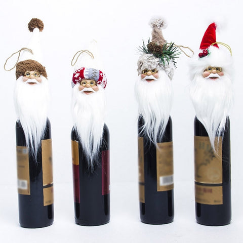 Christmas Santa Claus Decorations - Perfect as Wine Bottle Hat Cover
