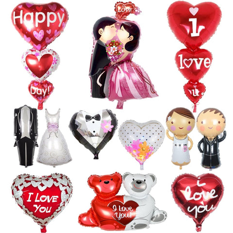 Wedding Bride and Groom Love Aluminium Foil Balloons
