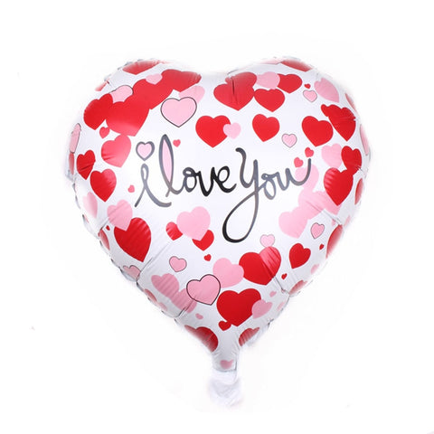 Heart-shaped love aluminum balloon - 18-inch