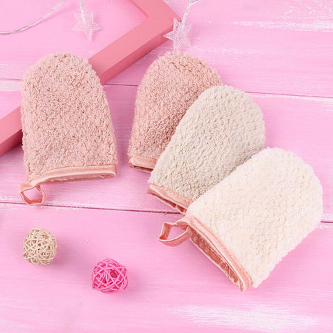 Reusable Microfiber Makeup Remover Face Towel Cleansing Glove - 2pcs