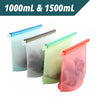 Reusable Silicone Food Storage Bags - 1500ml & 1000ml - 4 per set