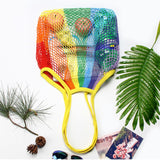 Colorful Large Capacity Mesh Shopping Bag for Groceries - Reusable
