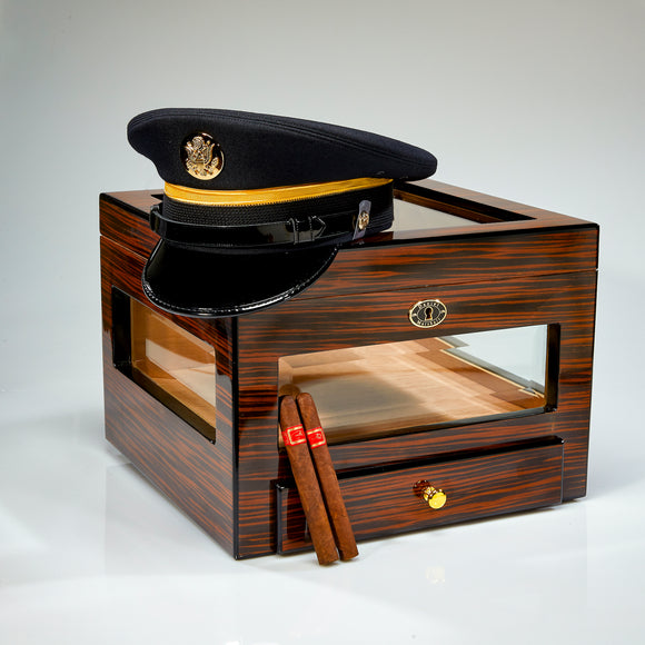 Military Cover Presentation Humidor by Daniel Marshall