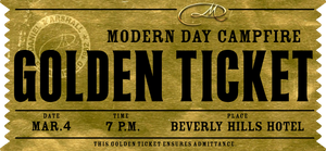 "Golden TIcket for ""The Cigar Night"" @ The Beverly Hills Hotel Monday March 4, 2019"