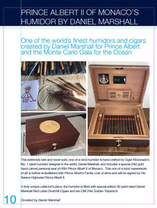 "HSH Prince Albert II of Monaco's ""Royal Seal Humidor"" by Daniel Marshall filled with DM Cigars"