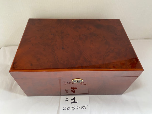 FACTORY FLOOR SALE ITEM #1 - AS IS – BURL AMBIENTE BY DM 20150 PRIVATE STOCK HUMIDOR