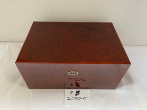 FACTORY FLOOR SALE ITEM #5 - AS IS – BURL AMBIENTE BY DM 20150 PRIVATE STOCK HUMIDOR