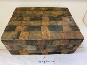 "FACTORY FLOOR SALE- #7 -AS IS- 1962 ""50 Year Old Oak Whiskey Stave"" Humidor by Daniel Marshall, Limited Editions."