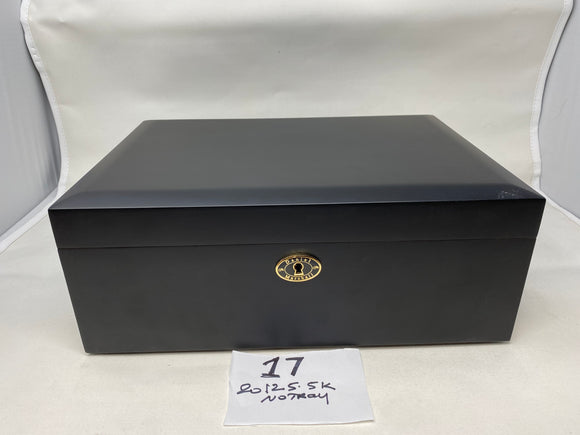 FACTORY FLOOR SALE ITEM NO. 17- AS-IS- AMBIENTE BY DANIEL MARSHALL 125 HUMIDOR IN BLACK MATTE PRIVATE STOCK HUMIDOR