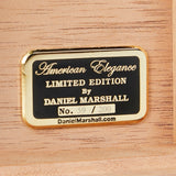 AUTOGRAPHED DANIEL MARSHALL LIMITED EDITION 150 HUMIDOR TREASURE CHEST IN MACASSAR EBONY