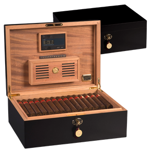 Cash for Clunker Trade in for a AUTOGRAPHED AMBIENTE BY DANIEL MARSHALL 125 HUMIDOR IN BLACK MATTE