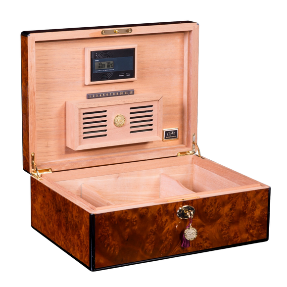 DANIEL MARSHALL 125 HUMIDOR BURL PRIVATE STOCK HUMIDOR