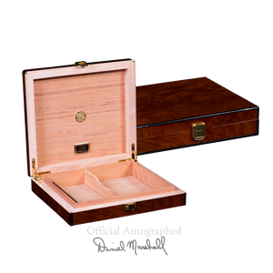 Cash for Clunker Trade in for a AUTOGRAPHED DANIEL MARSHALL DESK-TRAVEL HUMIDOR IN PRECIOUS BURL