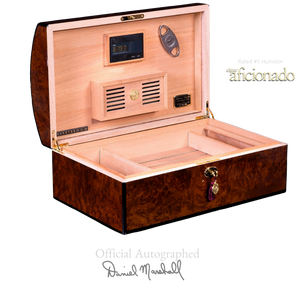 AUTOGRAPHED DANIEL MARSHALL LIMITED EDITION  TREASURE CHEST IN PRECIOUS BURL