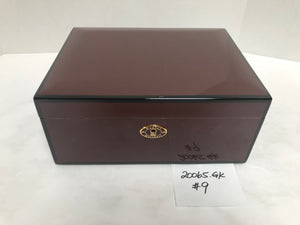 FACTORY FLOOR SALE ITEM #9 HIGH GLOSS BORDEAUX 65 PRIVATE STOCK HUMIDOR