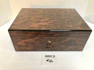FACTORY FLOOR SALE ITEM #26 BURL 125 PRIVATE STOCK HUMIDOR