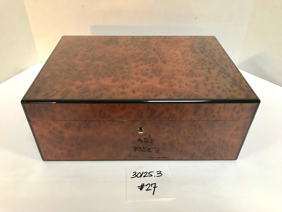 FACTORY FLOOR SALE ITEM #27 BURL 125 PRIVATE STOCK HUMIDOR
