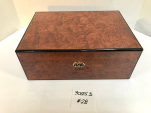 FACTORY FLOOR SALE ITEM #28 BURL 125 PRIVATE STOCK HUMIDOR