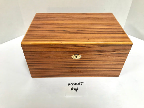 FACTORY FLOOR SALE ITEM #34 ZEBRAWOOD 150 PRIVATE STOCK HUMIDOR