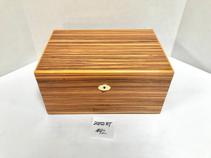 FACTORY FLOOR SALE ITEM #42 ZEBRAWOOD 150 PRIVATE STOCK HUMIDOR