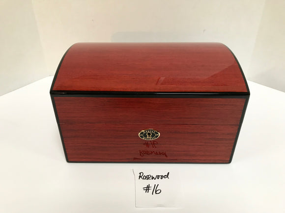 FACTORY FLOOR SALE ITEM #16 ROSEWOOD 100 TREASURE CHEST PRIVATE STOCK HUMIDOR