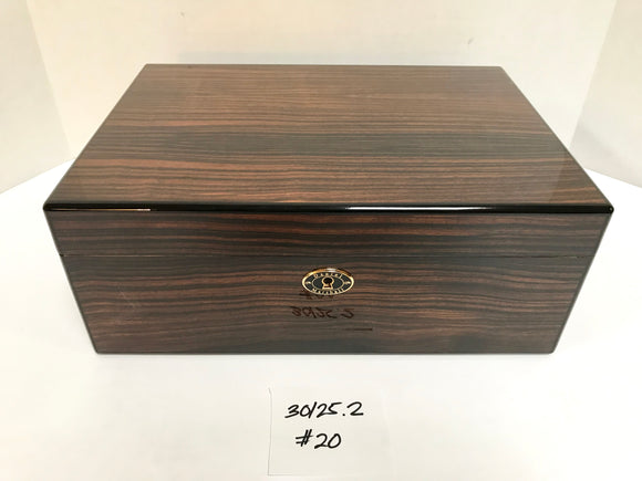 FACTORY FLOOR SALE ITEM #20 MACASSAR EBONY 125 PRIVATE STOCK HUMIDOR