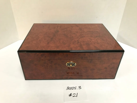 FACTORY FLOOR SALE ITEM #21 BURL 125 PRIVATE STOCK HUMIDOR