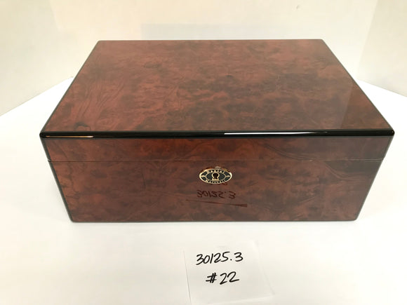 FACTORY FLOOR SALE ITEM #22 BURL 125 PRIVATE STOCK HUMIDOR