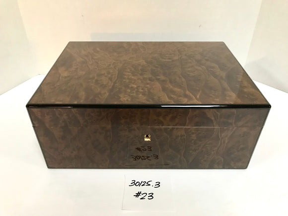 FACTORY FLOOR SALE ITEM #23 BURL 125 PRIVATE STOCK HUMIDOR