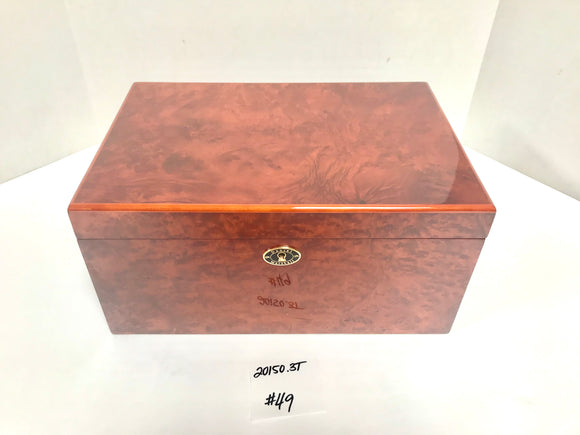 FACTORY FLOOR SALE ITEM #49 BURL AMBIENTE BY DM 20150 PRIVATE STOCK HUMIDOR