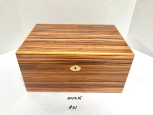 FACTORY FLOOR SALE ITEM #51 ZEBRAWOOD 150 PRIVATE STOCK HUMIDOR