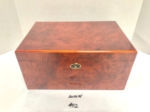 FACTORY FLOOR SALE ITEM #52 AMBIENTE BY DM BURL 150 PRIVATE STOCK HUMIDOR