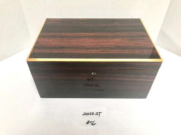 FACTORY FLOOR SALE ITEM #56 AMBIENTE BY DM MACASSAR EBONY 150 PRIVATE STOCK HUMIDOR