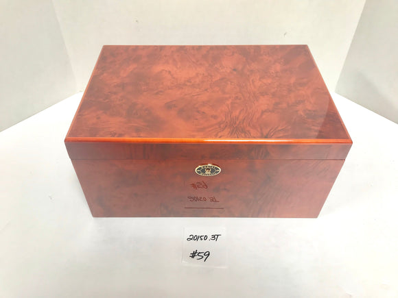 FACTORY FLOOR SALE ITEM #59 BURL 150 PRIVATE STOCK HUMIDOR