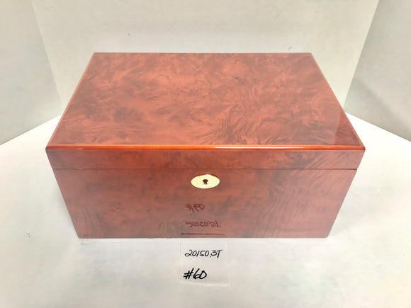 FACTORY FLOOR SALE ITEM #60 BURL 150 PRIVATE STOCK HUMIDOR