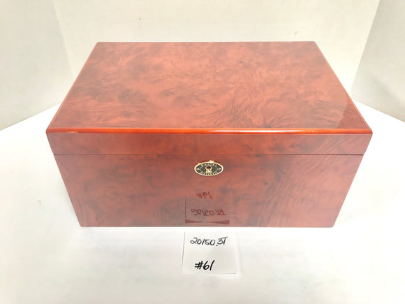 FACTORY FLOOR SALE ITEM #61 BURL 20150 PRIVATE STOCK HUMIDOR