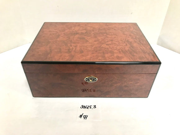 FACTORY FLOOR SALE ITEM #71 BURL 125 PRIVATE STOCK HUMIDOR