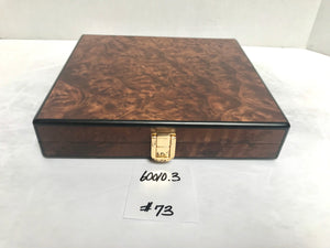 FACTORY FLOOR SALE ITEM #73 BURL TRAVEL 20 PRIVATE STOCK HUMIDOR