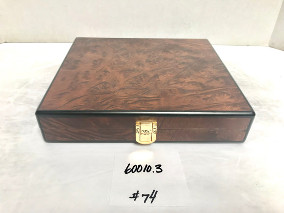FACTORY FLOOR SALE ITEM #74 BURL TRAVEL 20 PRIVATE STOCK HUMIDOR