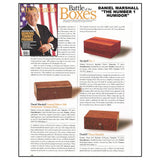 AUTOGRAPHED DANIEL MARSHALL LIMITED EDITION 500 CIGAR HUMIDOR IN BURL WITH 4 LIFT OUT TRAYS