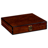 AUTOGRAPHED DANIEL MARSHALL DESK-TRAVEL HUMIDOR IN PRECIOUS BURL